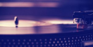 Record Player Background For Music Talks